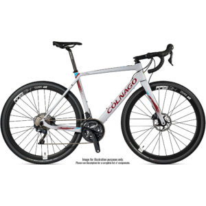 "Colnago EGRV Disc Gravel E-Bike 2020 - Grey - Red - 49.5cm (19.5"")"