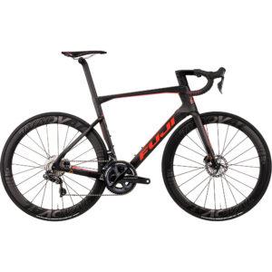 "Fuji Transonic 2.1 Disc Road Bike 2020 - Satin Carbon - Red Orange - 52cm (20.5"")"